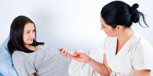 ciąża, kobieta, badanie, lekarz, położna