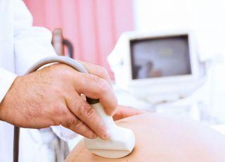 ciąża, lekarz, usg, badanie, brzuszek