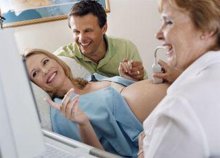 ciąża, mama, tata, badanie, usg