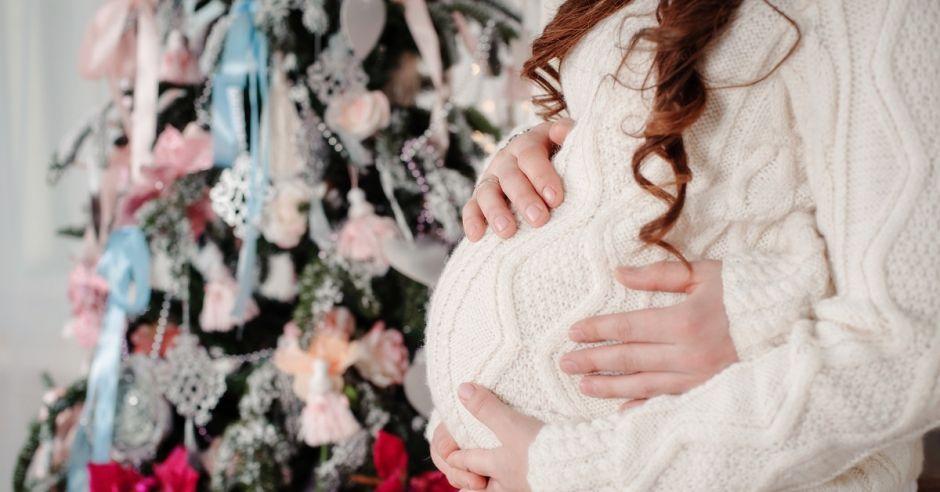 ciąża, poród, boże narodzenie,