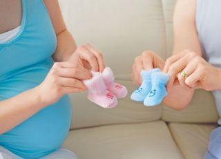 ciąża, skarpetki, płeć dziecka, mama, brzuszek