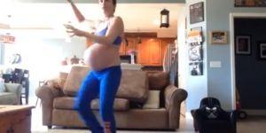ciąża, taniec, poród