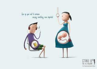 ciąża, ustępowanie miejsca