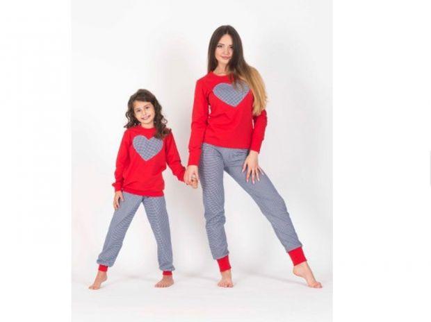 ciepła piżama dla mamy i córki