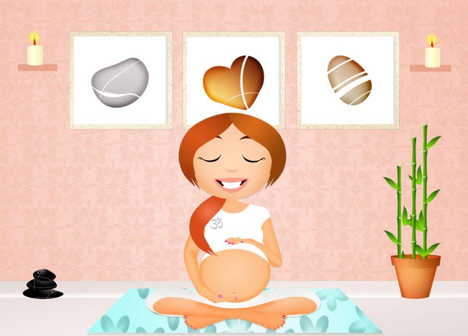 ciężarna, joga, relaks