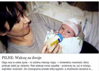 CIężarna Olga walczy o życie