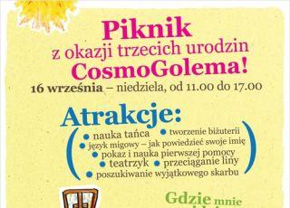 CosmoGolema, piknik dla dzieci, warsztaty dla dzieci
