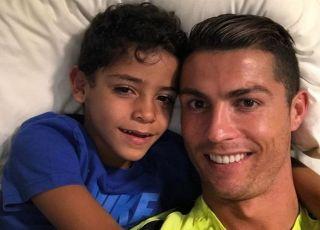 Cristiano Ronaldo ze starszym synem