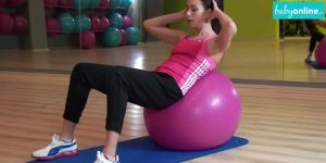ćwiczenia, kobieta, gimnastyka