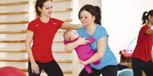 ćwiczenia po porodzie, ćwiczenia z niemowlakiem
