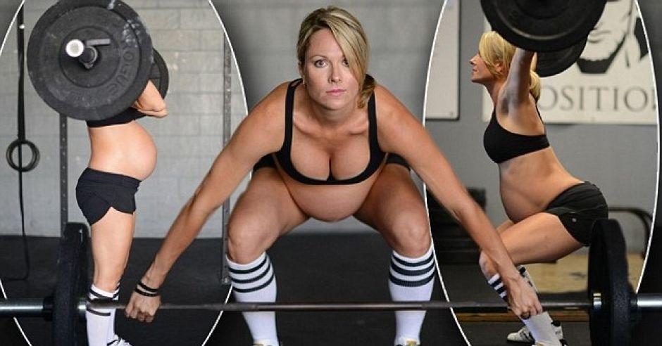 ćwiczenia w ciąży, ciężarna kulturystka