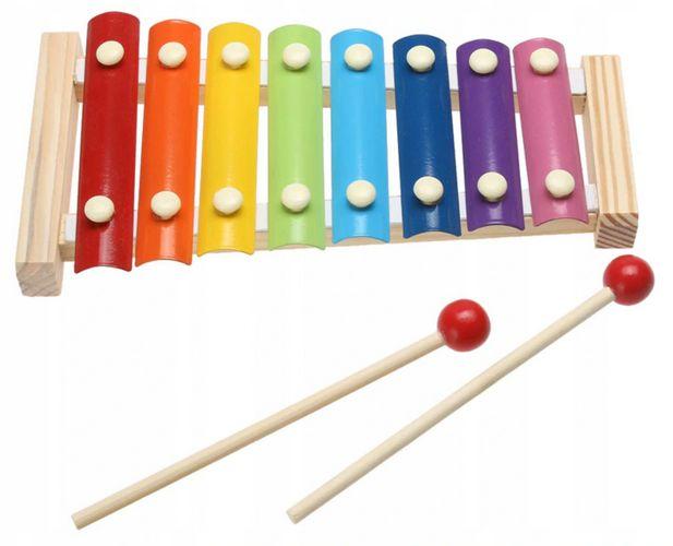 zabawki dla dzieci z autyzmem drewniane cymbałki