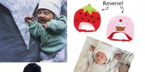 czapki zimowe dla noworodków