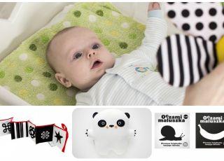 czarno-białe zabawki