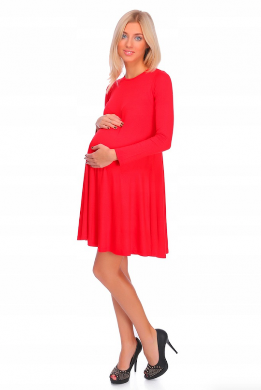 Czerwona sukienka ciążowa na wesele allegro