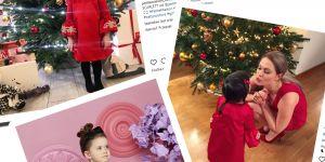 czerwona sukienka córeczki Zosi Ślotały na święta 590zł