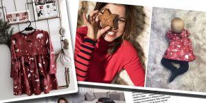 Czerwona sukienka Klary Lewandowskiej w misie i choinki