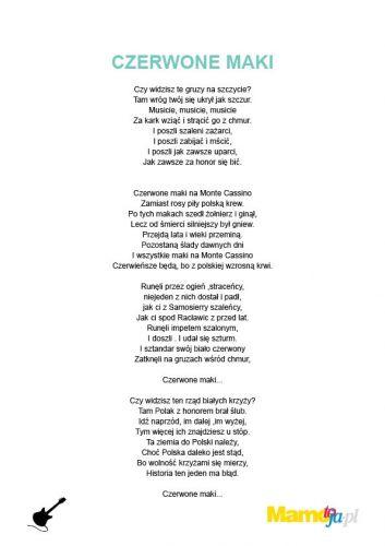 piosenki patriotyczne dla dzieci - Czerwone Maki