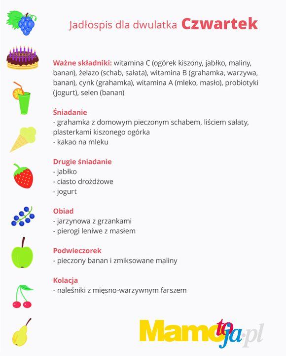 dieta dwulatka na cały tydzień (czwartek)