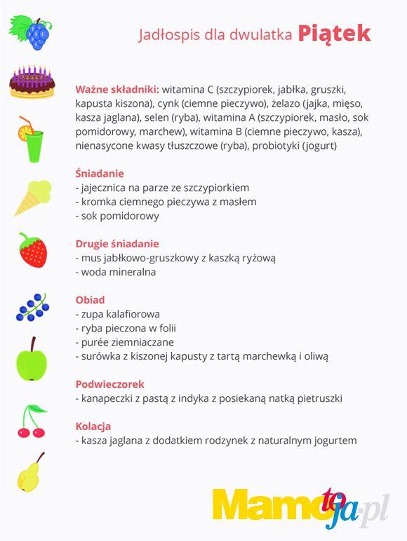 jadłospis dla dwulatka na cały tydzień (piątek)