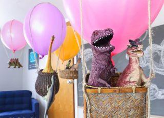 Dinovember- dinozaury lecą balonem