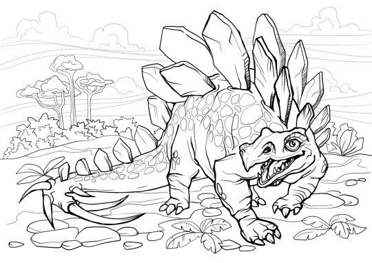 dinozaury kolorowanka stegozaur