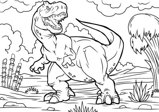 dinozaury kolorowanki T-rex
