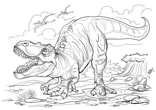 dinozaury kolorowanki tirex