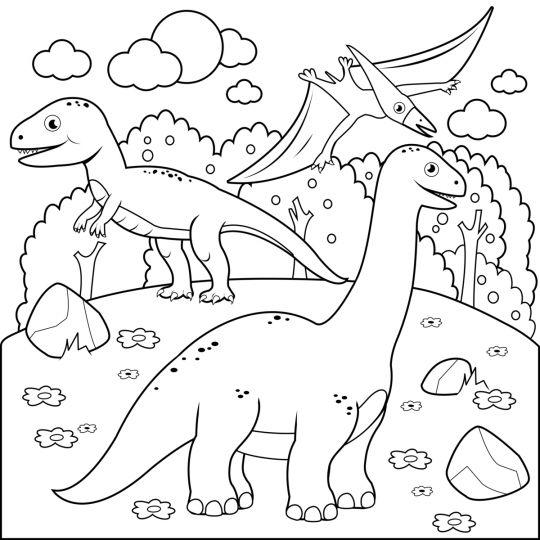 dinozaury kolorowanki 3 dinozaury dla maluchow