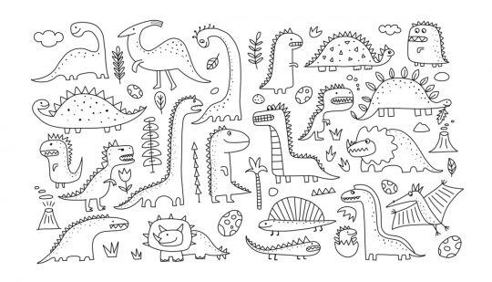 dinozaury kolorowanka nie tylko dla maluchów