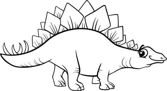 dinozury kolorowanki stegozaur dla młodszych dzieci
