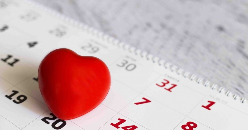 dni płodne i niepłodne, kalendarz, serce