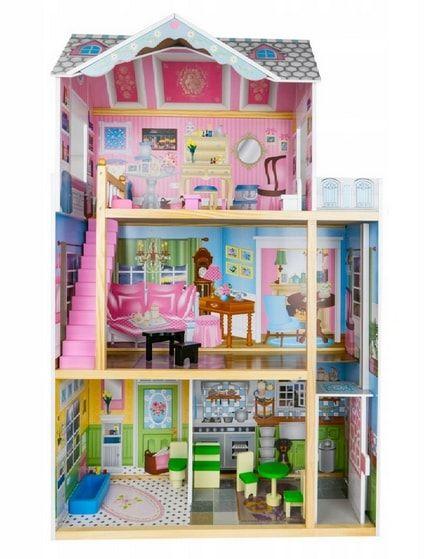 domek dla lalek barbie z akcesoriami