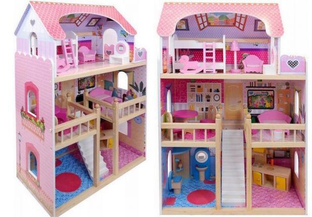 domek dla lalek barbie ze światłem