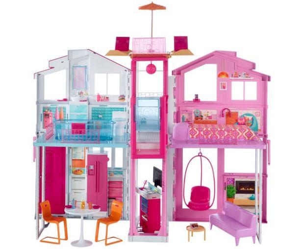 domek dla lalek Barbie miejski plastikowy