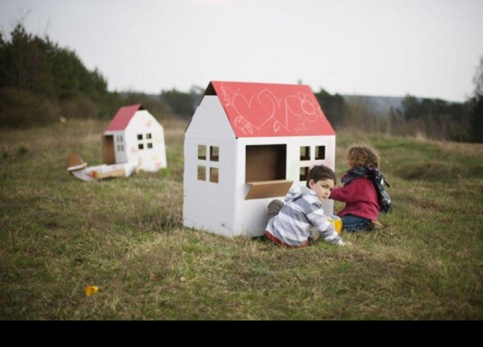 Domki dla dzieci z kartonu i tektury