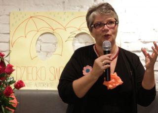 Dorota Zawadzka na premierze swojej książki