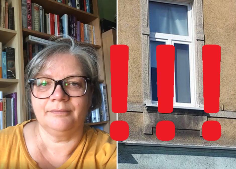 Dorota Zawadzka o stawianiu dzieci na parapecie