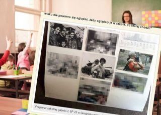 Drastyczne zdjęcia w gazetce szkolnej