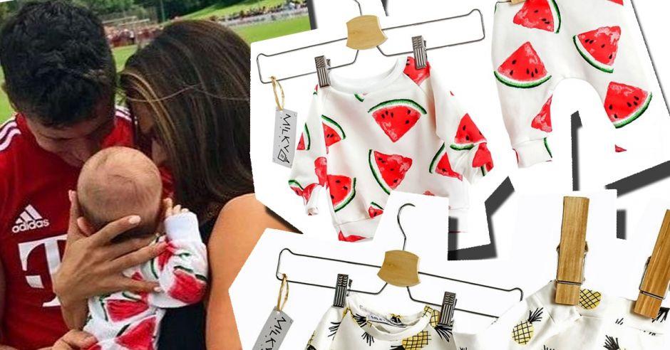 dres klary lewnadowskiej w arbuzy gdzie kupić i inne modne dresiki dla niemowląt.jpg