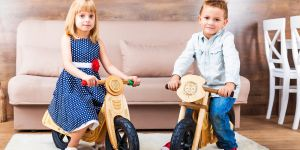 Drewniane rowerki biegowe