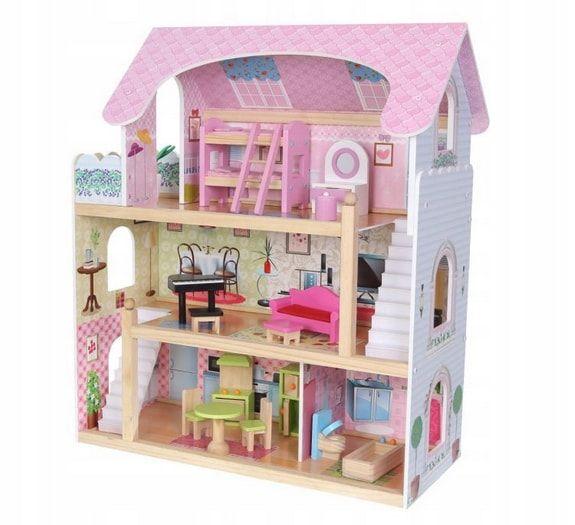 drewniany domek dla lalek bajkowa rezydencja