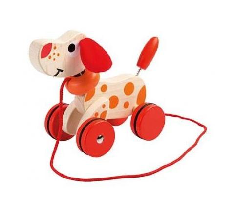 piesek na sznurku dla rocznego dziecka