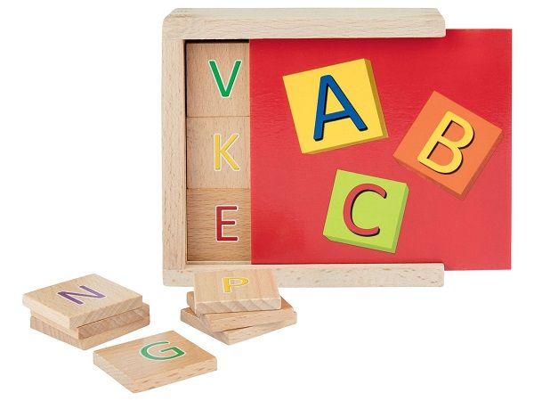 Drewniany alfabet z Lidla