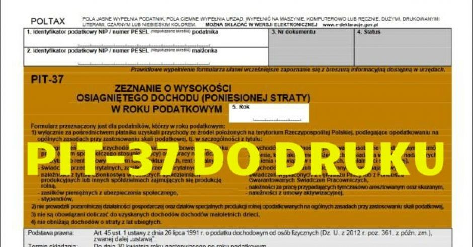 druk PIT-37 pdf do druku
