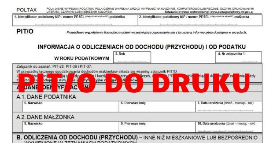 druk PIT/0 pdf do druku