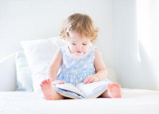 dwa, lata, czyta, dziecko