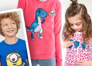 dwustronne cekiny hit w ubraniach dla dzieci