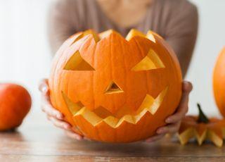 dynia na halloween wzór