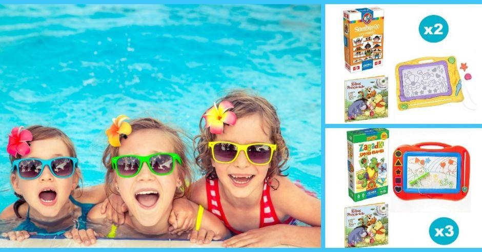 dzieci bawią się w wodzie, nagrody w konkursie